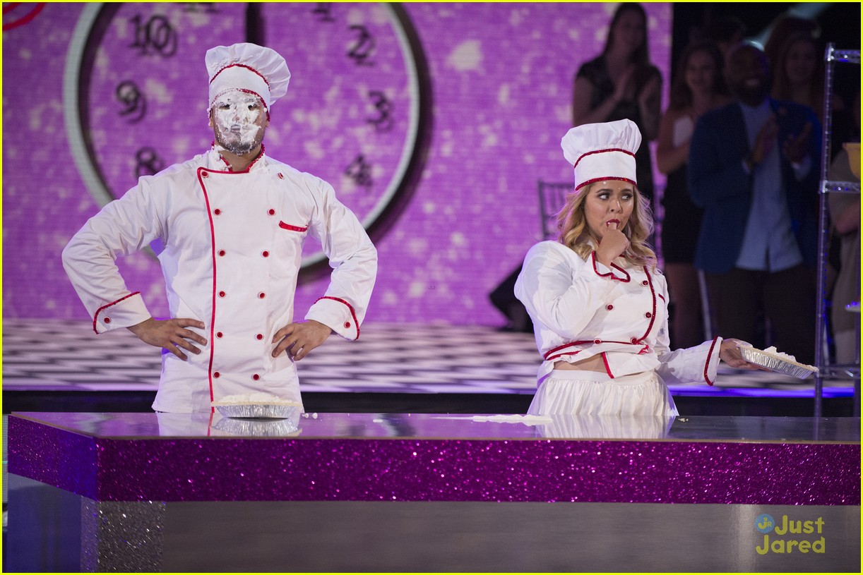 sasha pieterse brant daugherty pll dwts support baking pics 12