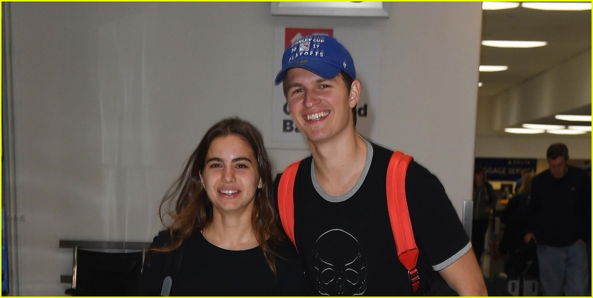 ansel elgort girlfriend hold hands 04
