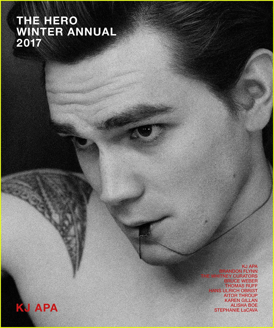 kj apa goes shirtless for first ever hero winter annual magazine 03