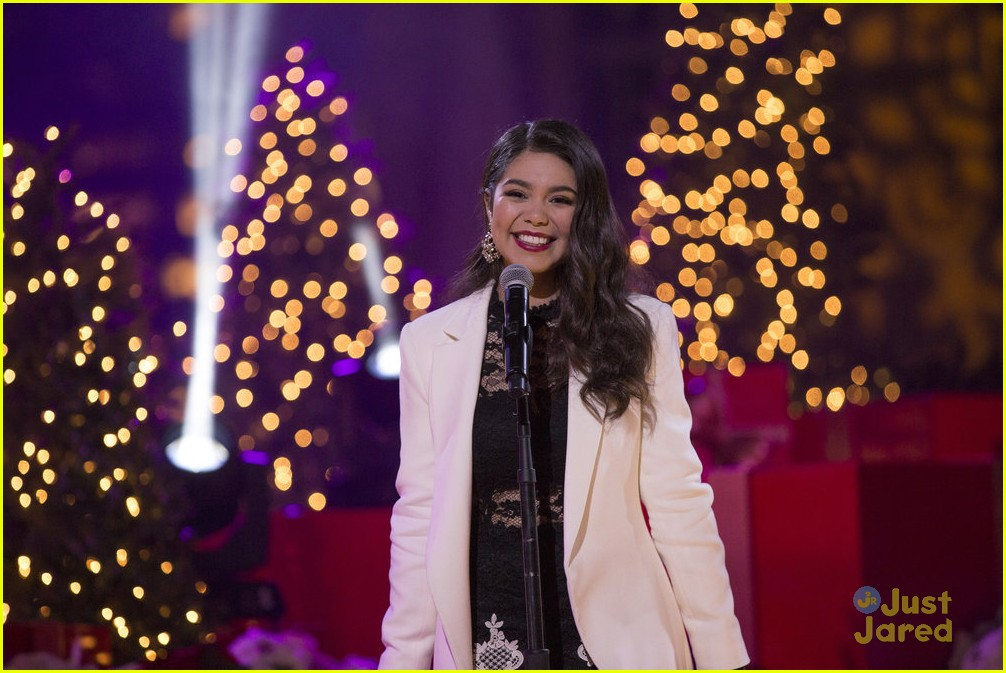 at Rockefeller Christmas Tree