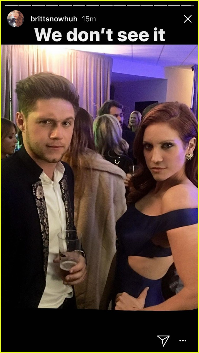 brittany snow cmas awards meets niall horan 02