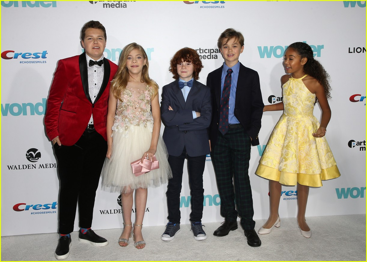 danielle rose russell jacob tremblay wonder premiere 21