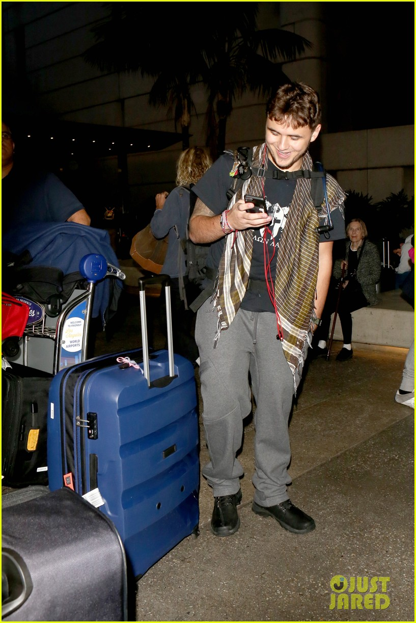 Prince Jackson Touches Down at LAX Weeks After Motorcycle