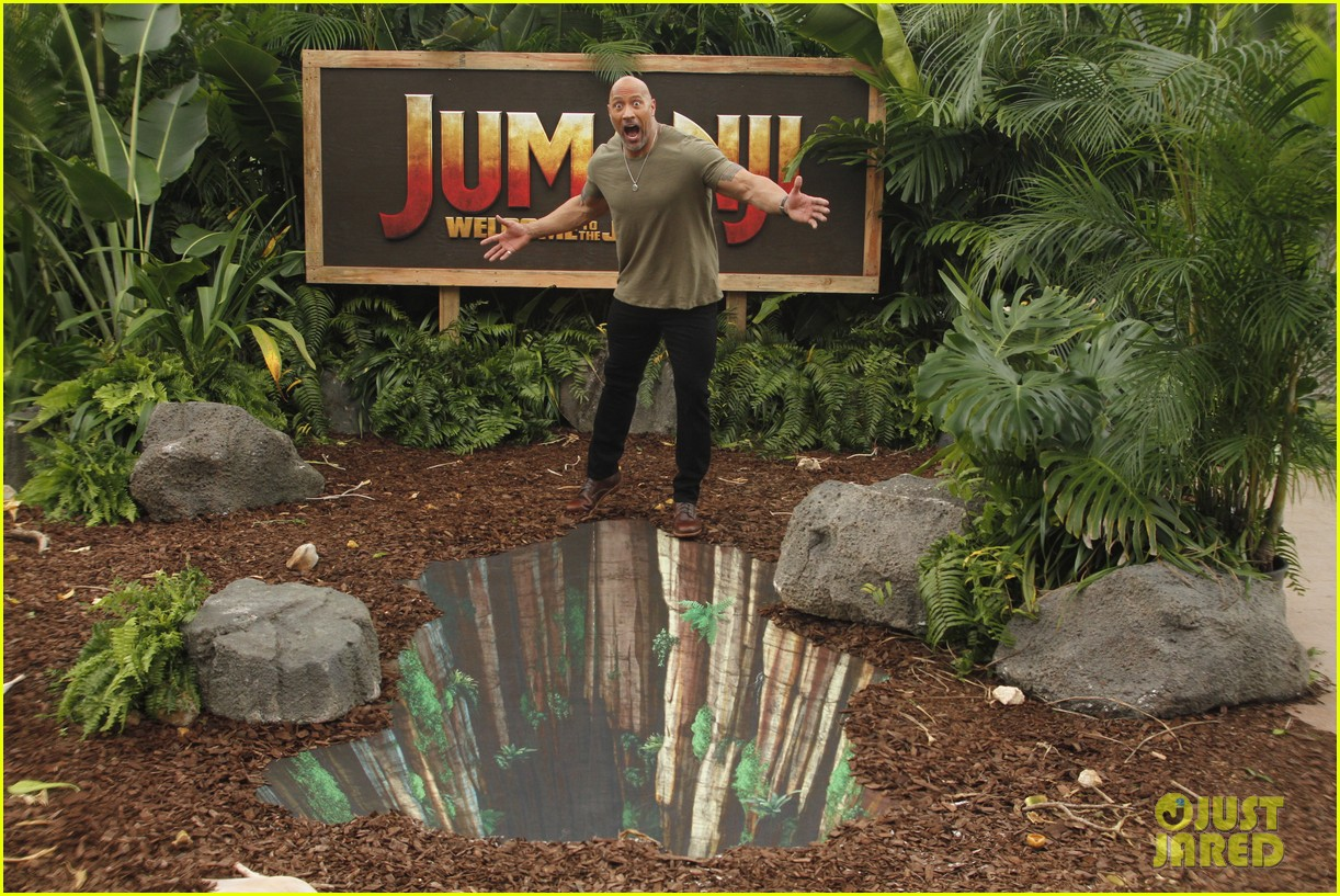 dwayne johnson nick jonas promote jumanji welcome to the jungle in hawaii 30