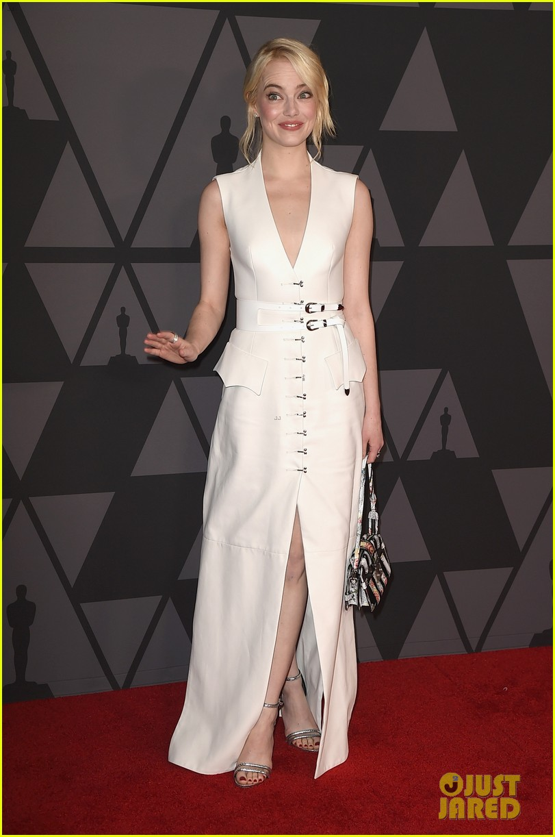 emma stone and jennifer lawrence look so chic at governors awards 2017 03