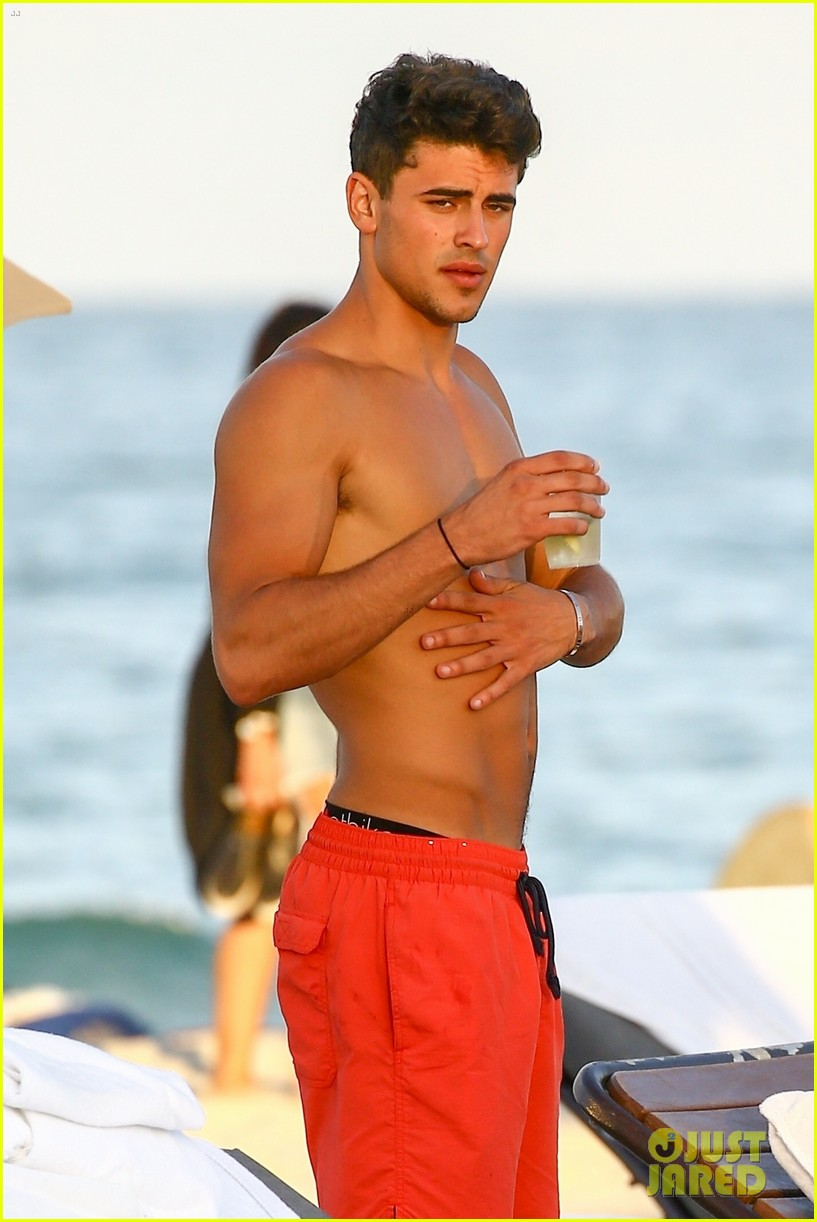 cameron dallas  u0026 jack  u0026 jack are shirtless beach studs on new year u0026 39 s eve