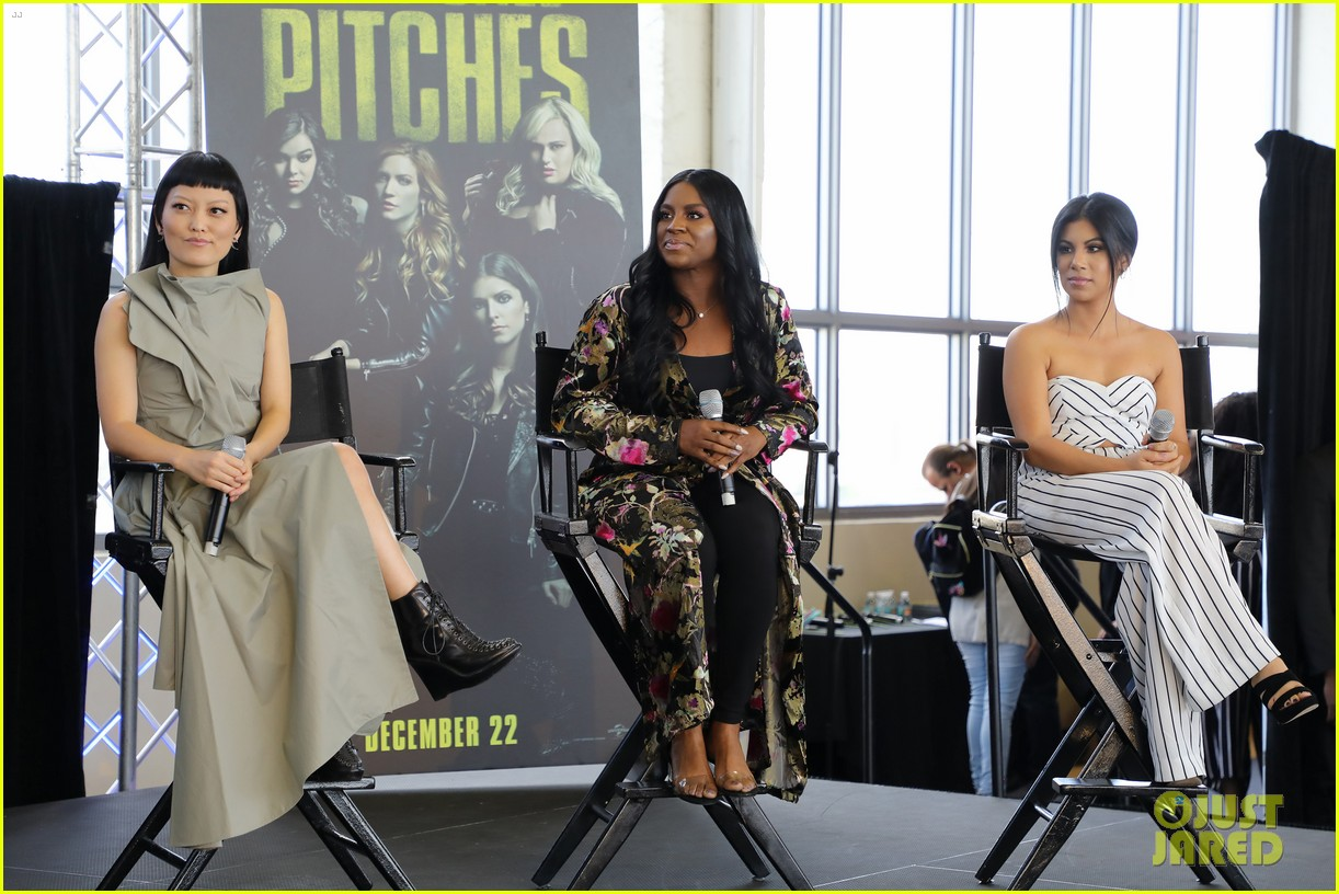 ester dean chrissie fit hana mae lee promote pitch perfect 3 in miami 10