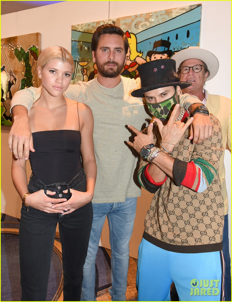 scott disick cuddles up to girlfriend sofia richie at art basel event 03