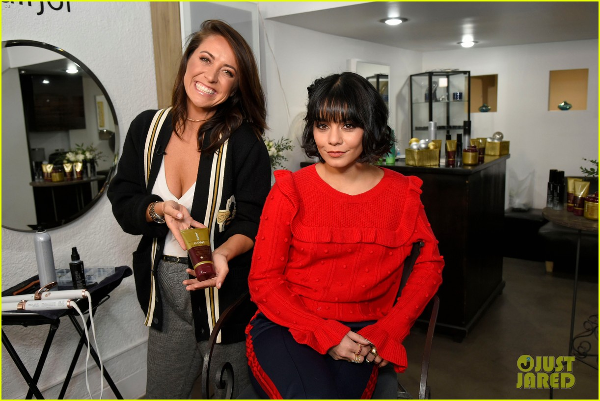 vanessa hudgens shows off new holiday look with joicos hair shake 04
