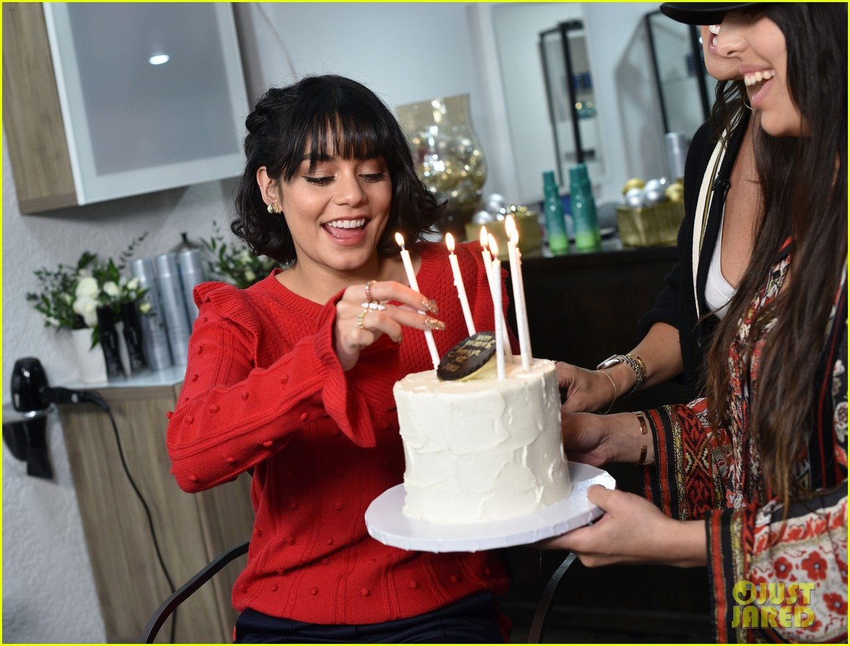 vanessa hudgens shows off new holiday look with joicos hair shake 05