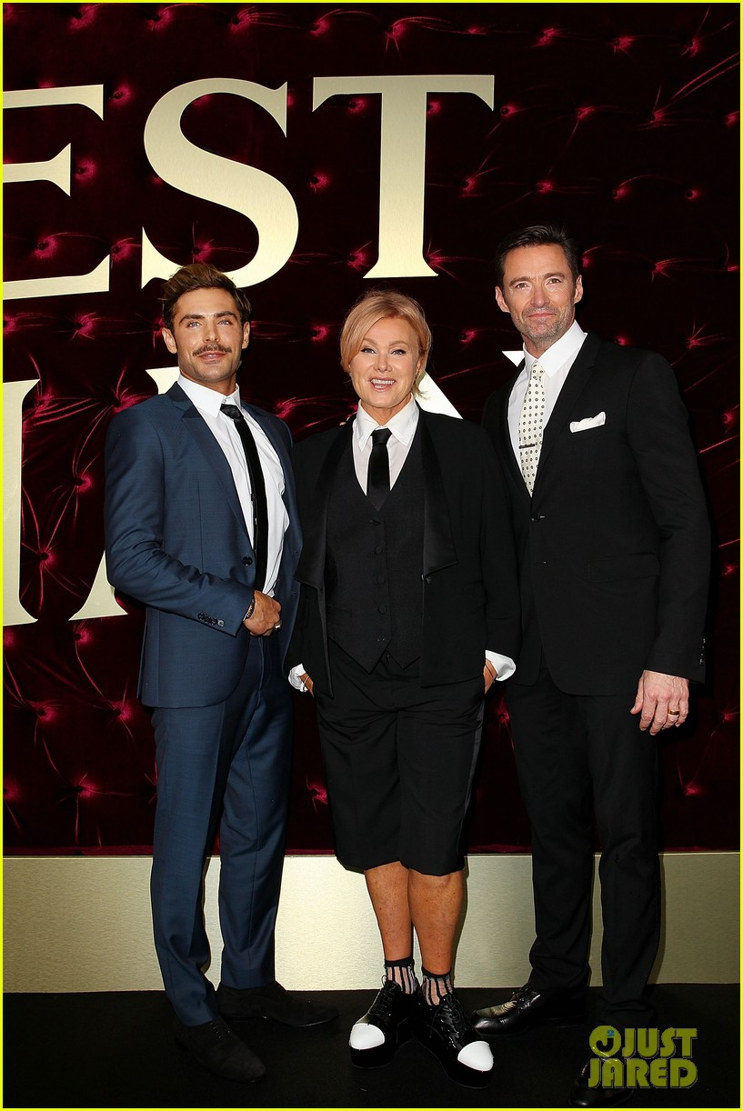 zac efron zendaya hugh jackman put on their best for greatest showman australian 21