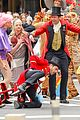 hugh jackman zac efron and zendaya bring greatest showman to streets of nyc 05