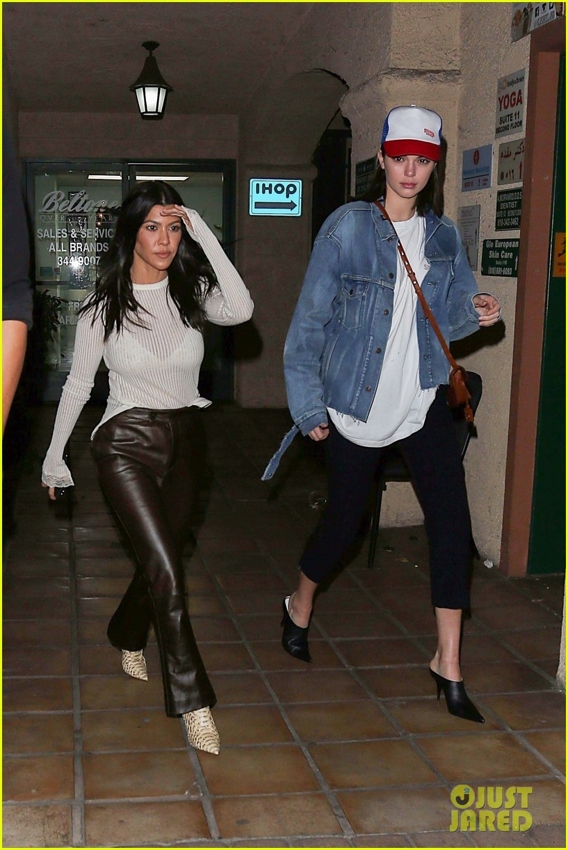 kourtney kardashian and kendall jenner match in denim while out in la 02