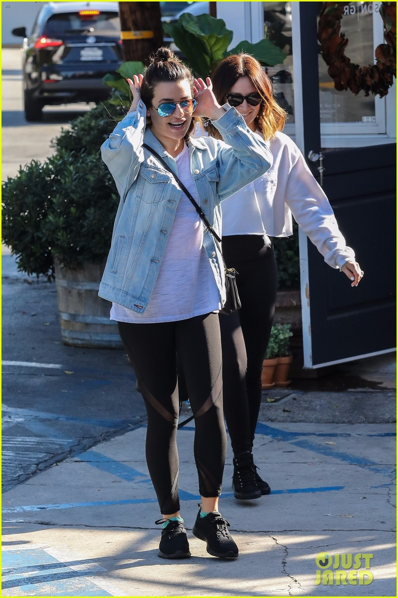 lea michele ashley tisdale hang out sunday 02