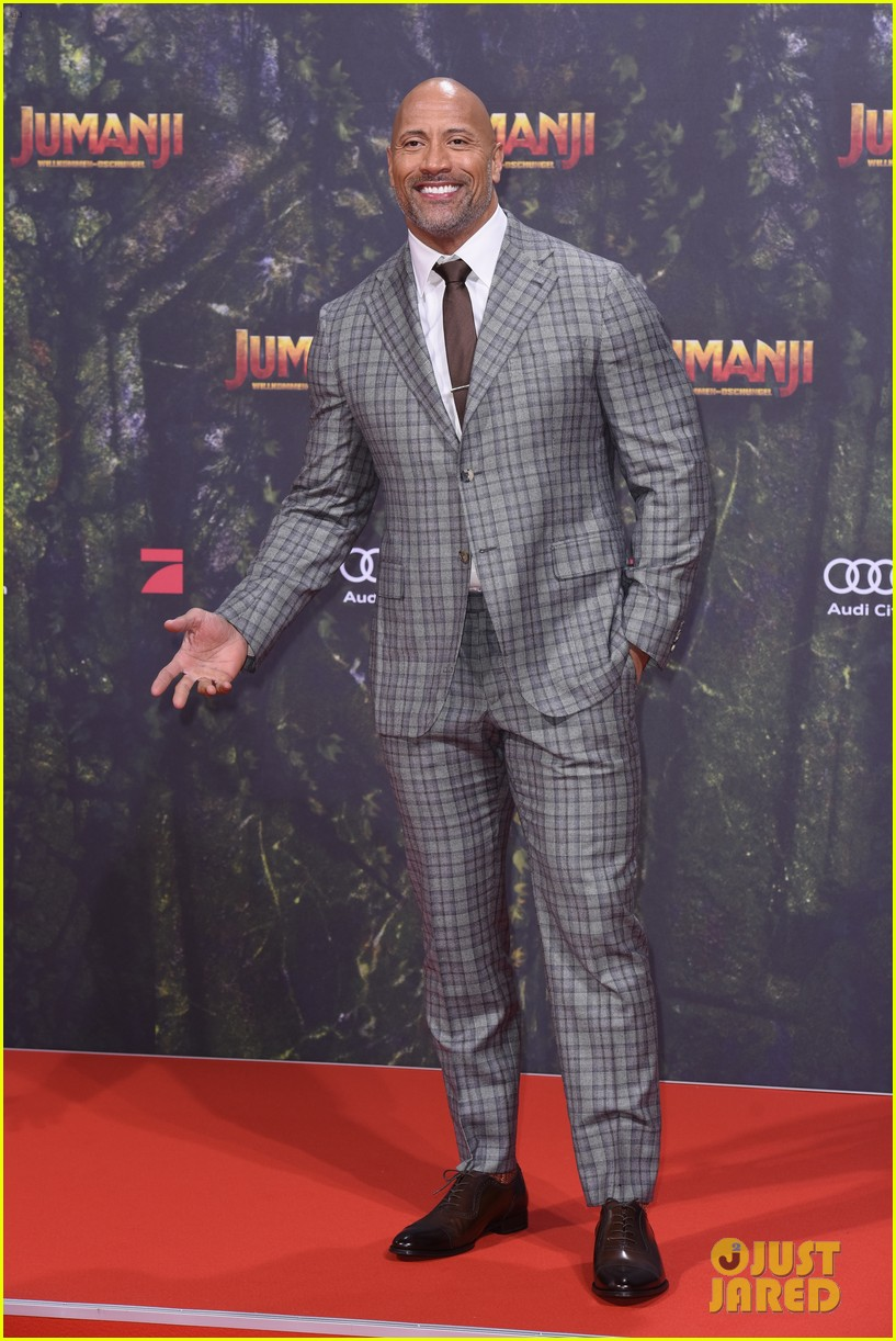 nick jonas dwayne johnson bring jumanji to germany 04