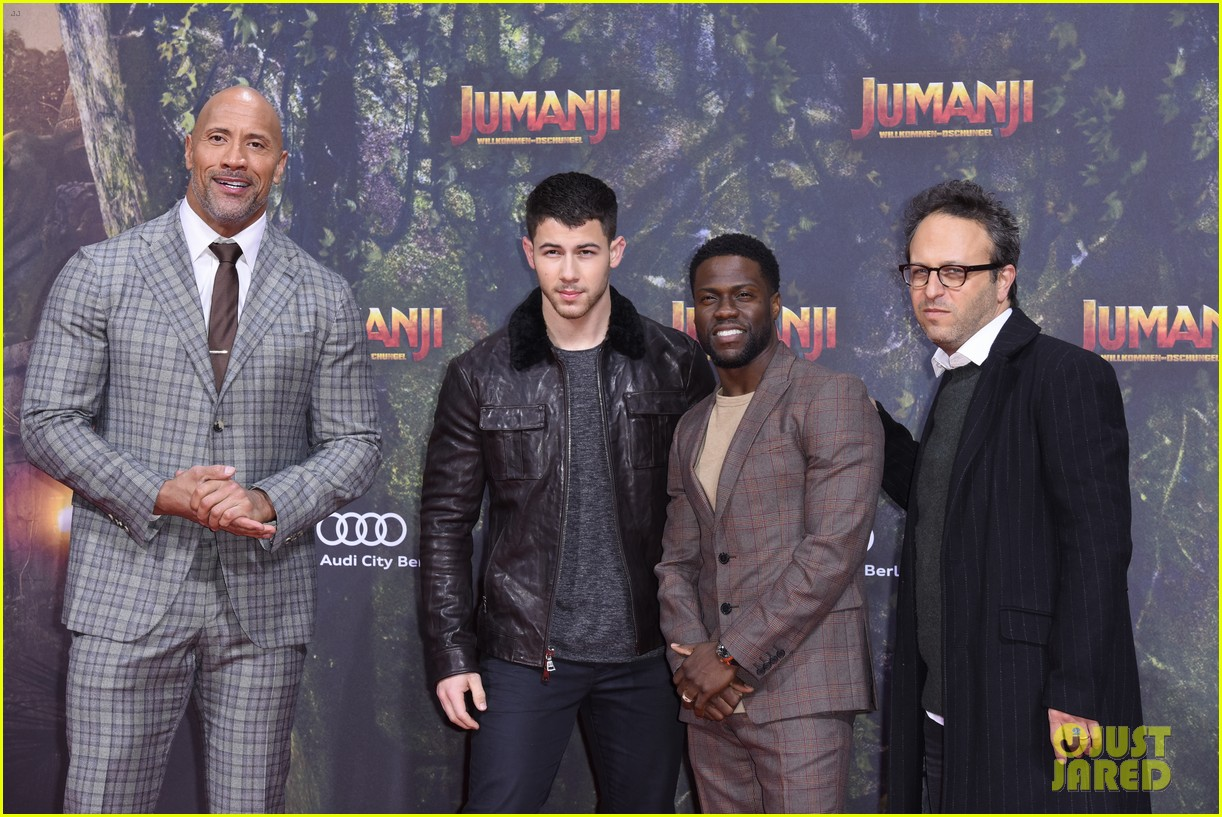 nick jonas dwayne johnson bring jumanji to germany 10