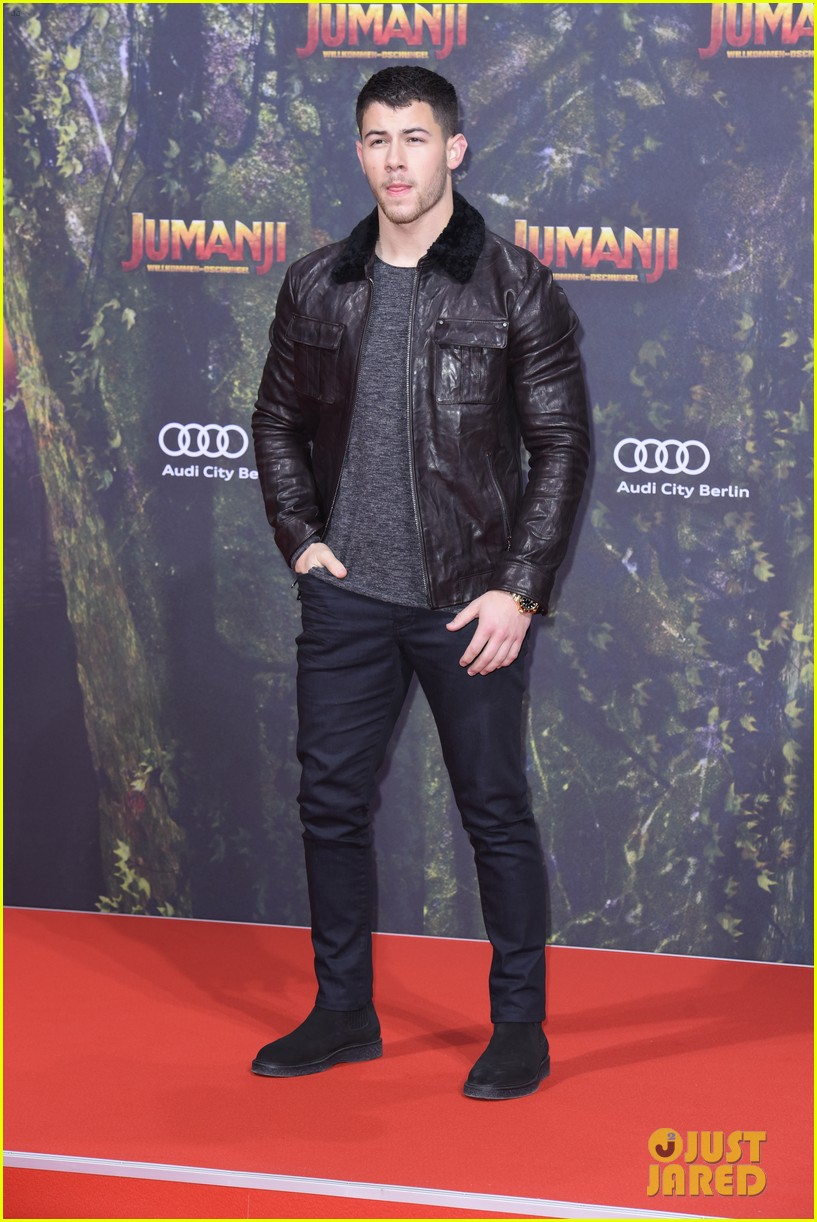 nick jonas dwayne johnson bring jumanji to germany 11