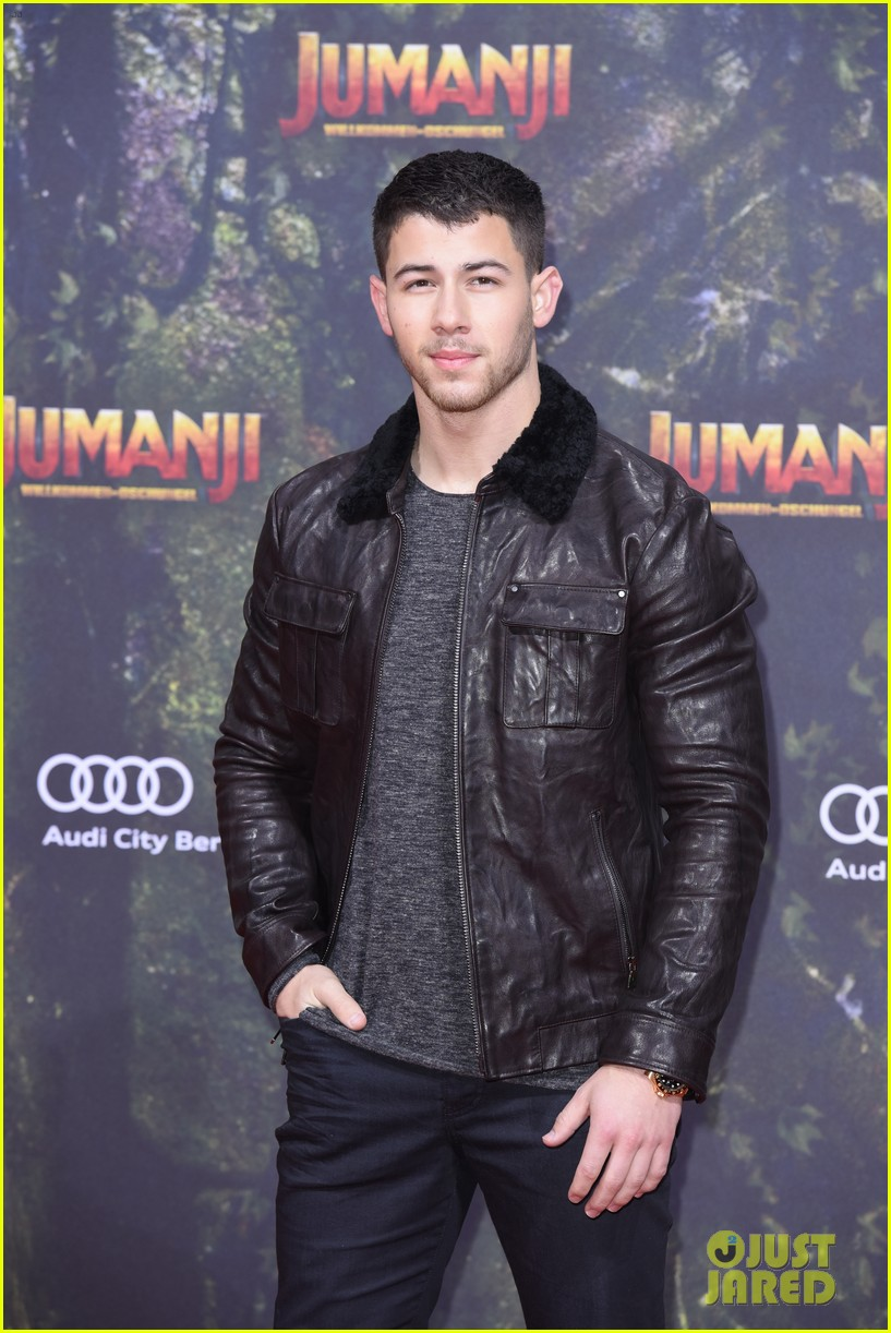 nick jonas dwayne johnson bring jumanji to germany 13
