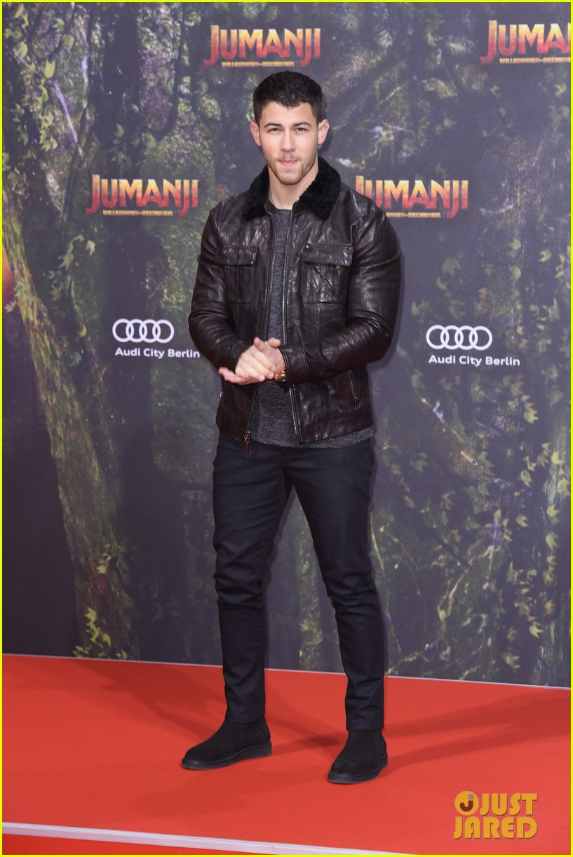 nick jonas dwayne johnson bring jumanji to germany 14