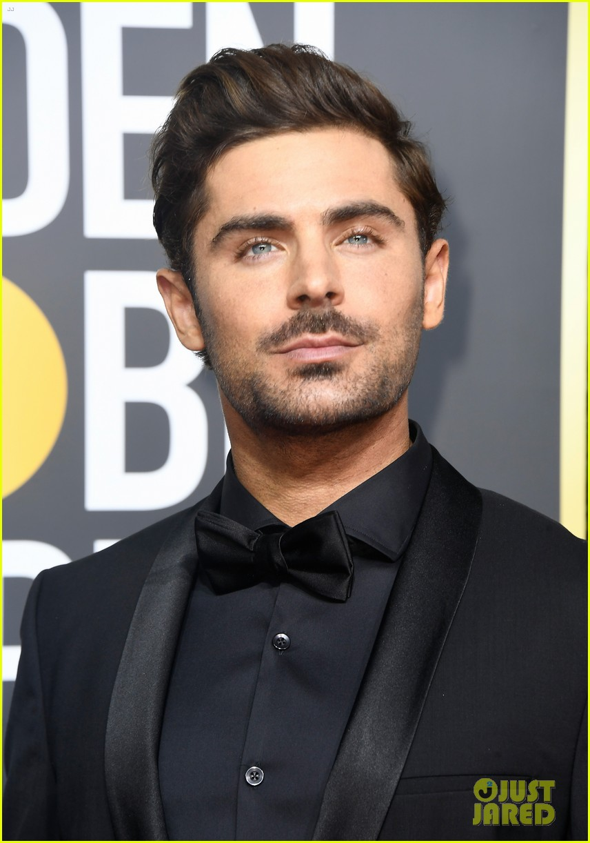 zac efron joins keala settle hugh jackman at golden globes 2018 03