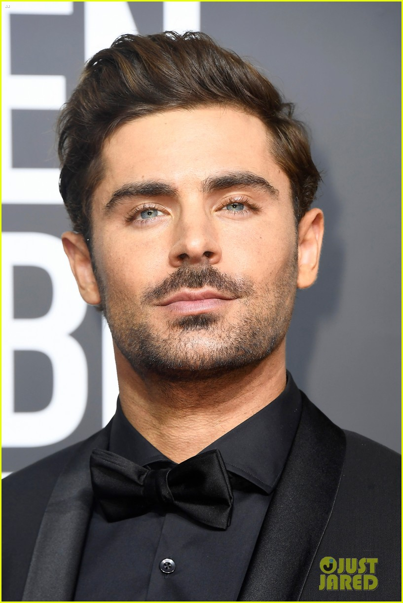 zac efron joins keala settle hugh jackman at golden globes 2018 12
