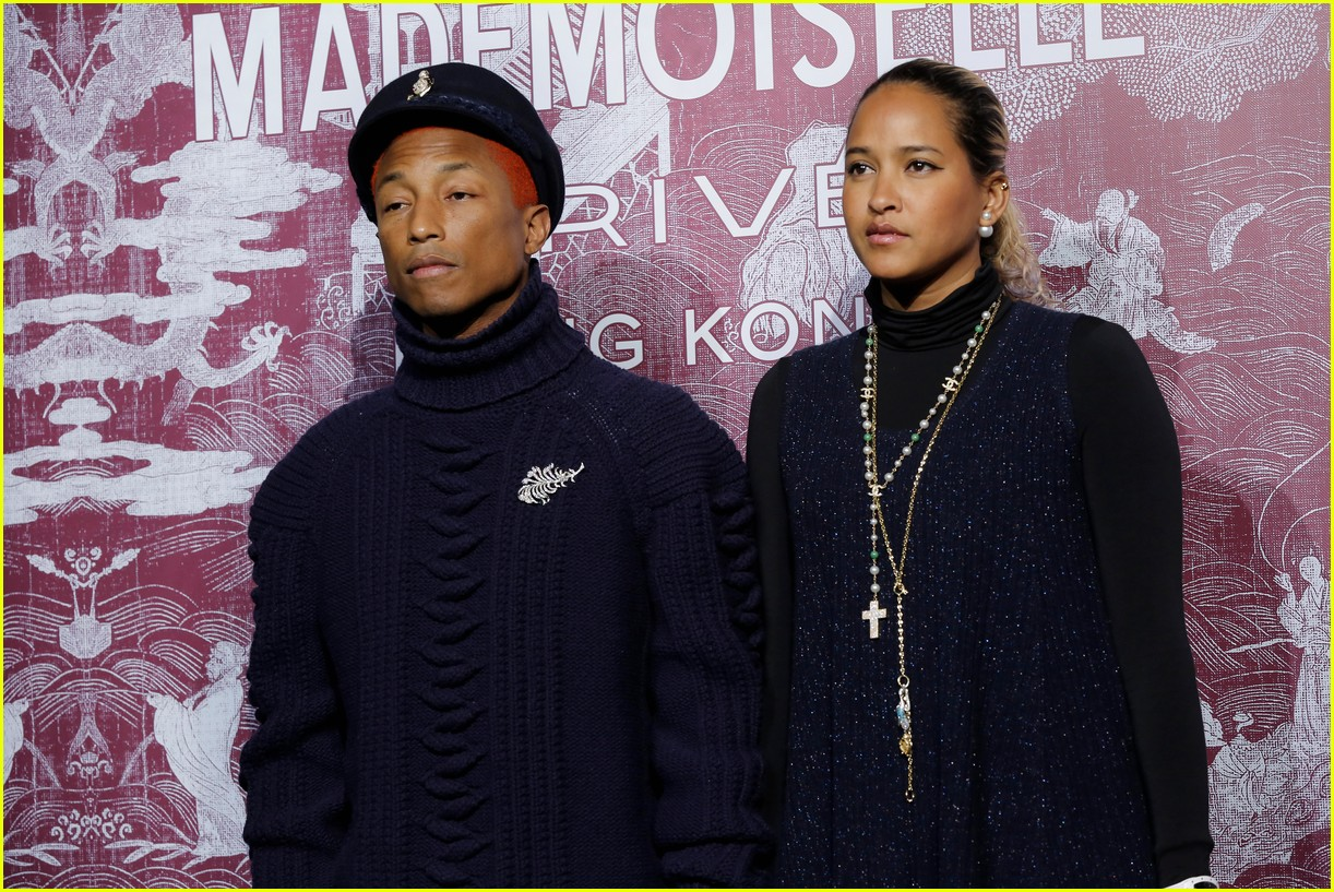 kaia gerber and pharrell williams are chanel chic in hong kong 02