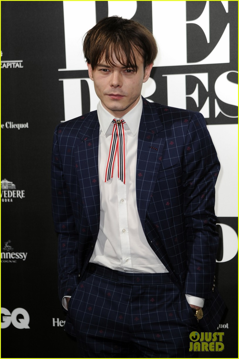 charlie heaton patrick gibson look so stylish at gq best dressed event 10