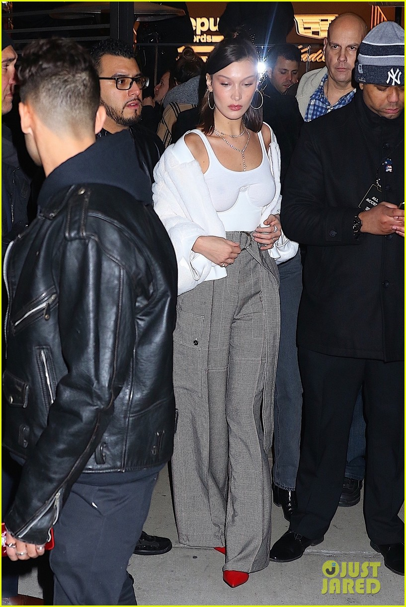 kendall jenner bella hadid hailey baldwin girls night out 23