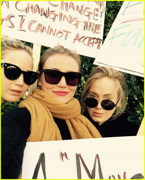 jennifer lawrence cameron diaz adele womens march 02