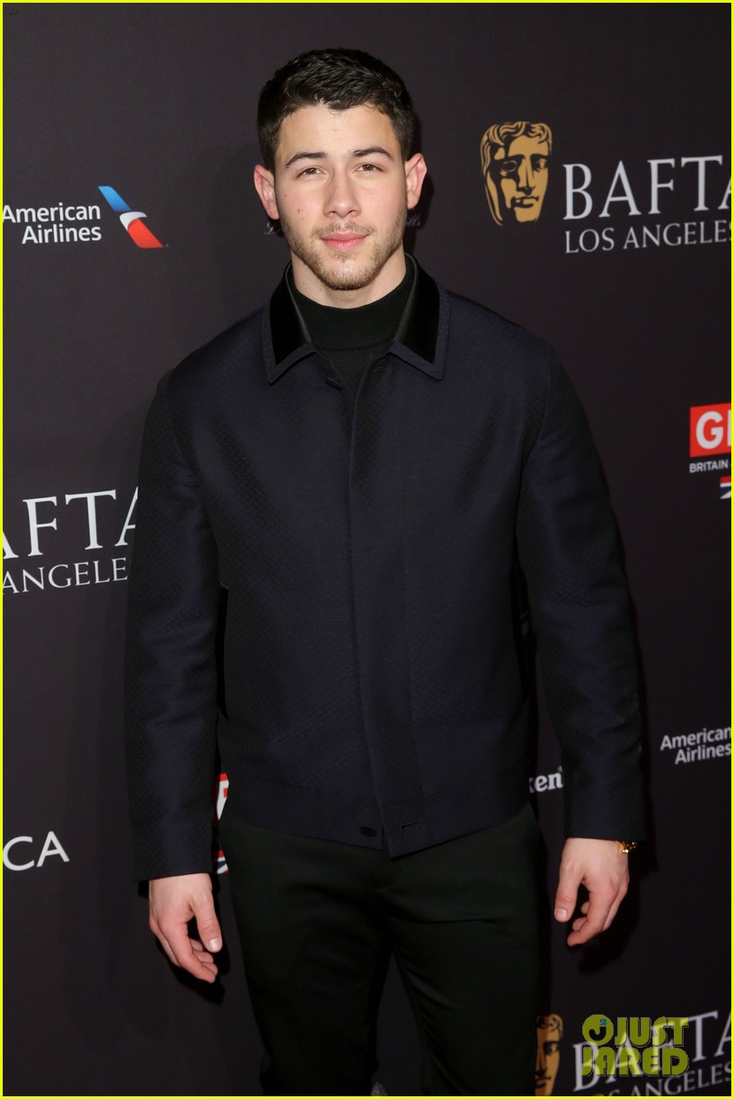 nick jonas joins katherine langford at bafta tea party 04