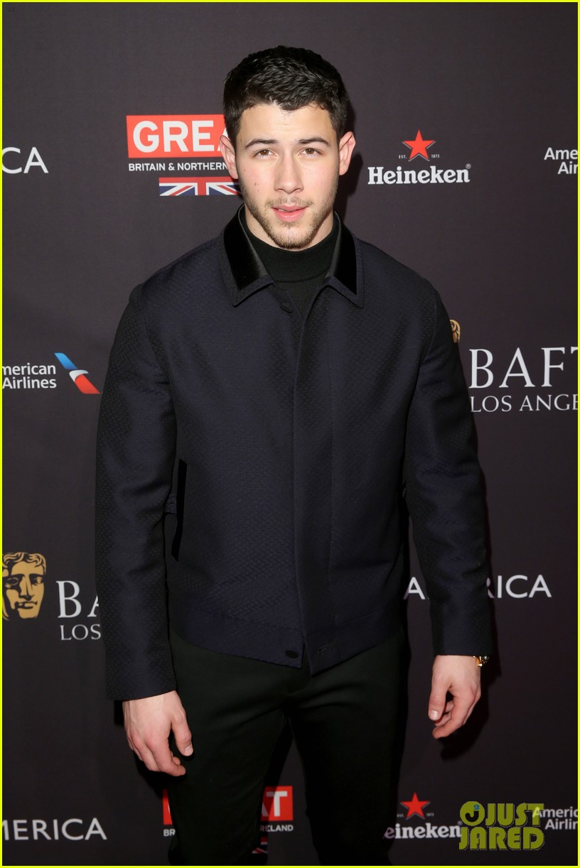 nick jonas joins katherine langford at bafta tea party 10