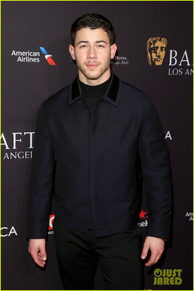 nick jonas joins katherine langford at bafta tea party 13