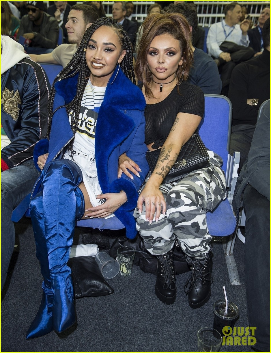 little mix leighanne pinnock jesy nelson attend nba london game 01