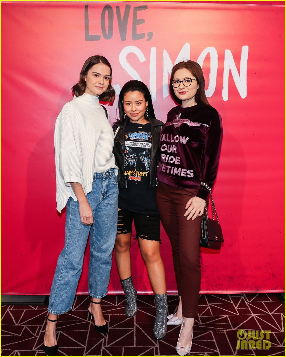 courtney eaton maia mitchell love simon screening 03