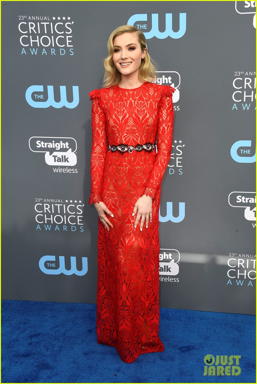 skyler samuels patrick schwarzenegger present together at critics choice awards 2018 01