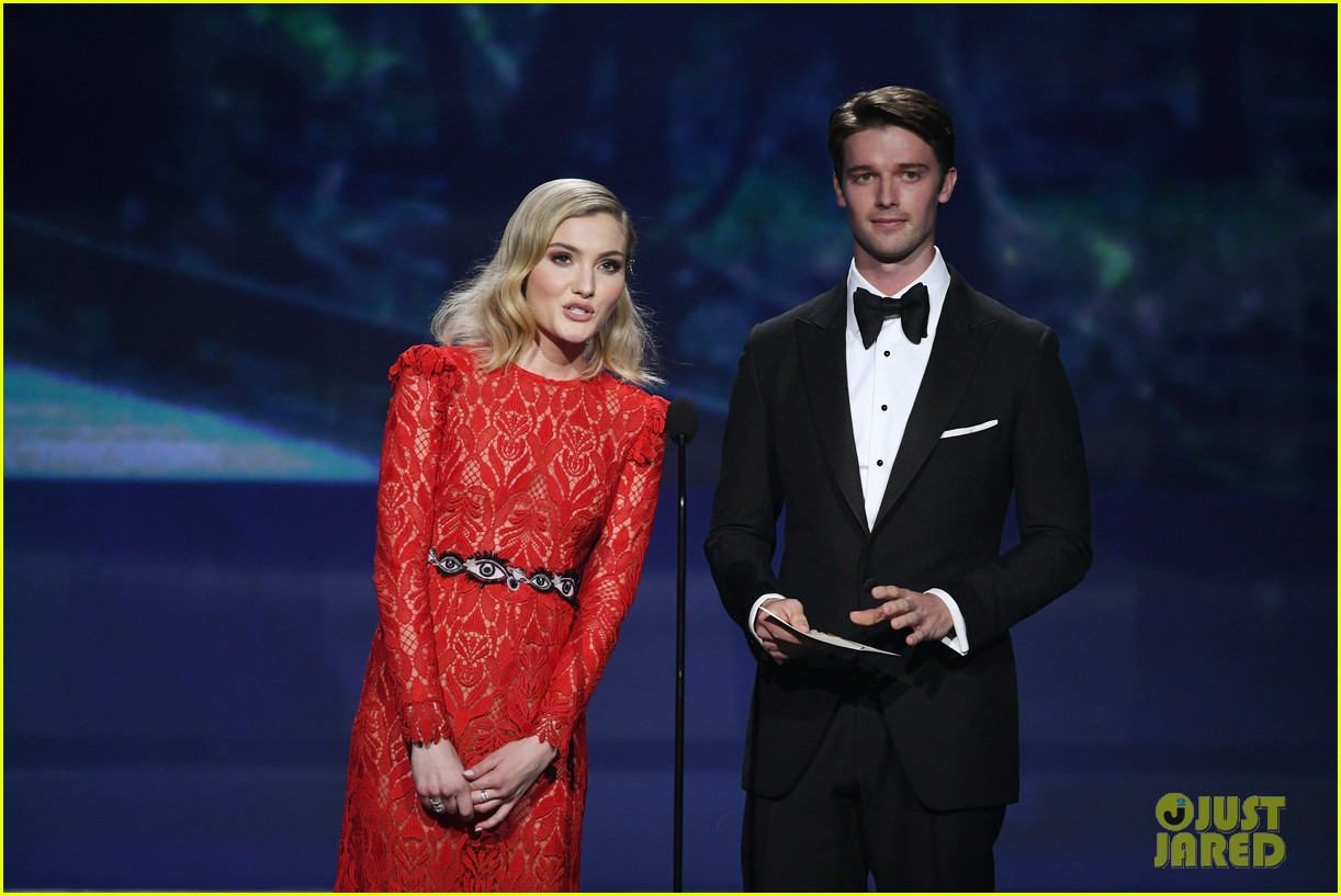 skyler samuels patrick schwarzenegger present together at critics choice awards 2018 09