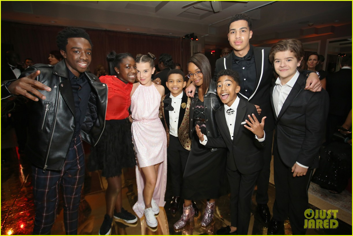 stranger things kids netflix sag awards after party 05