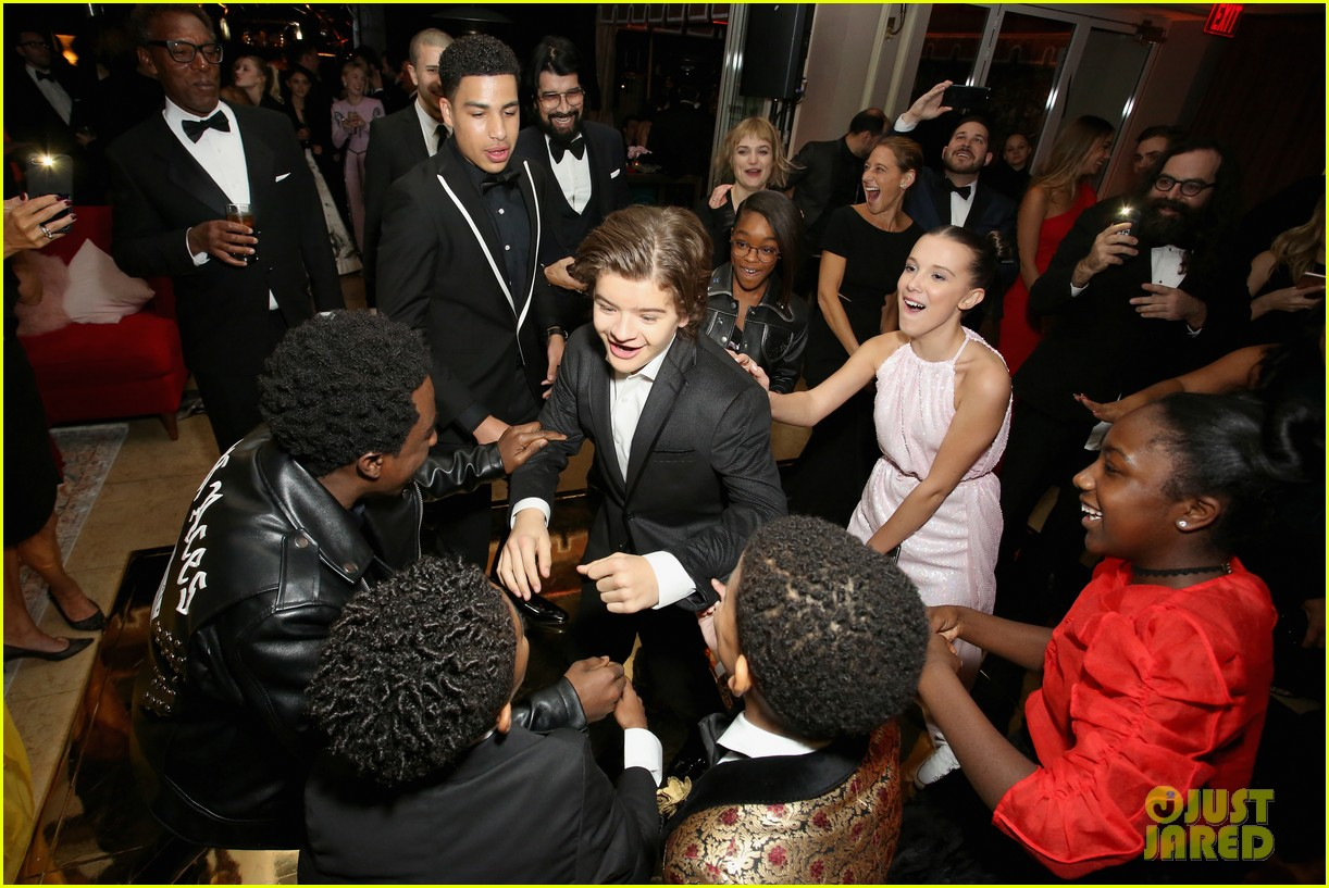 stranger things kids netflix sag awards after party 07