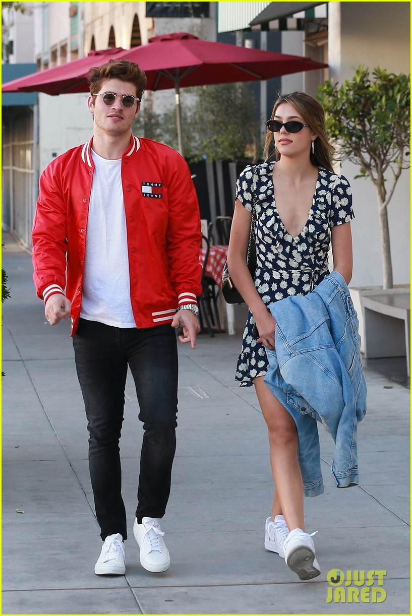 gregg sulkin hangs out with sistine stallone in beverly hills 05