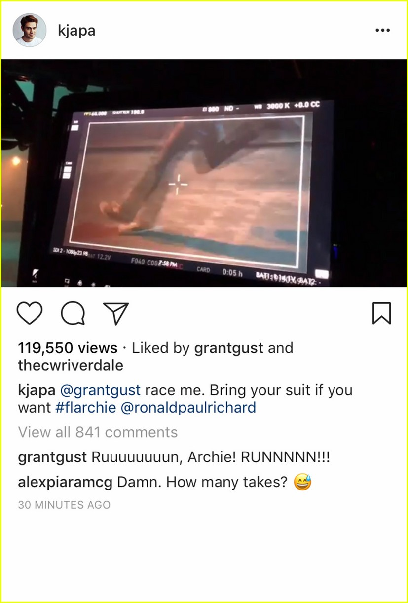 kj apa challenges grant gustins the flash to a race2 01
