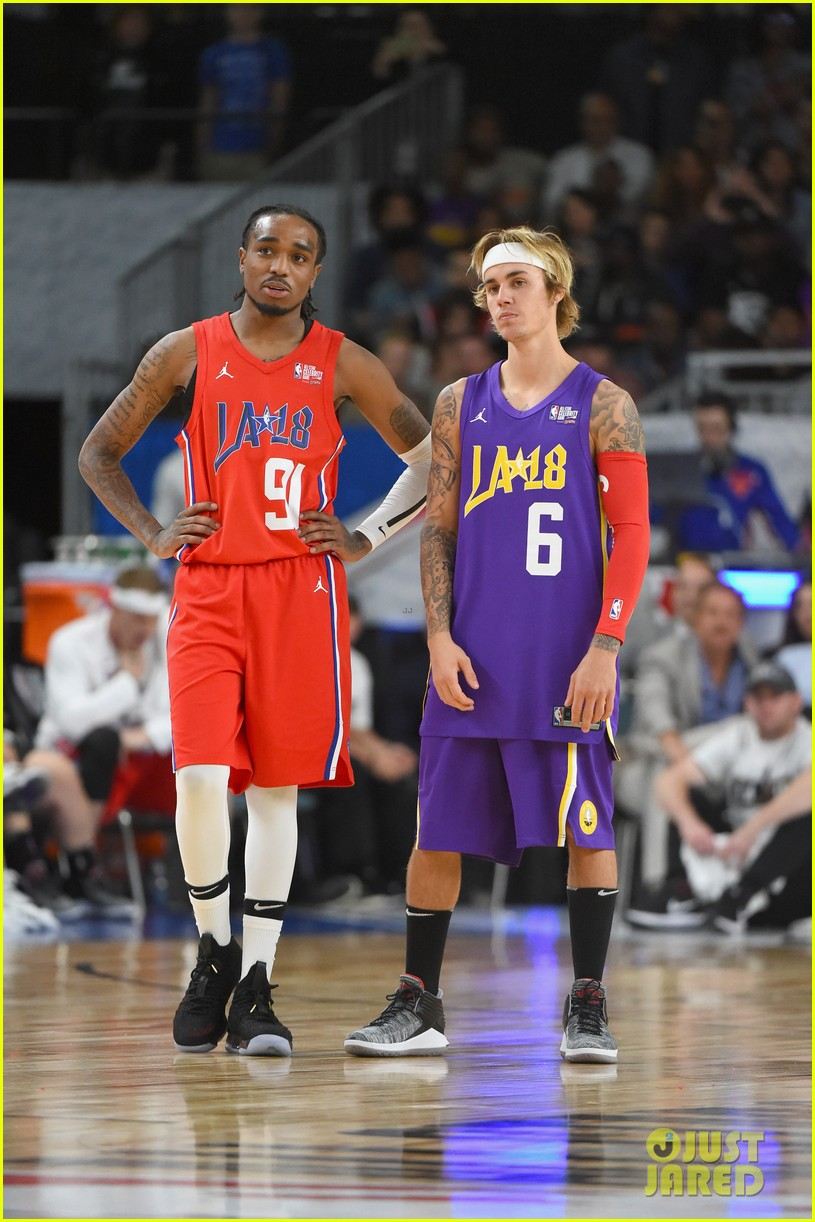 Justin Bieber Plays in the NBA All-Star Game Celebrity ...