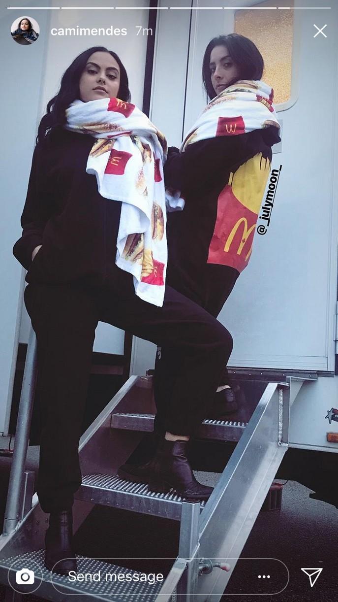 camila mendes mcdonalds swag gift 03
