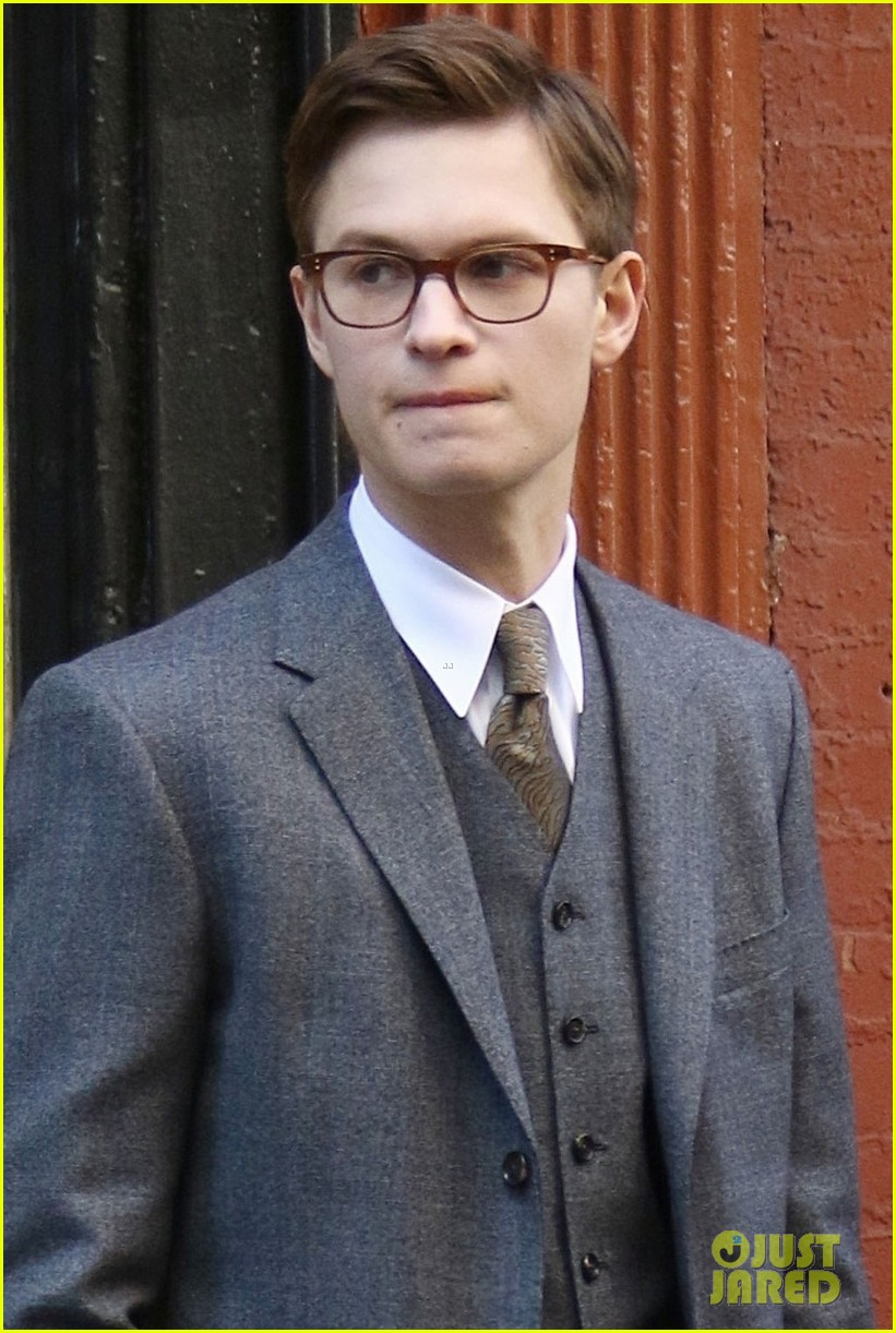 ansel elgort suits up on set of the goldfinch in nyc 02