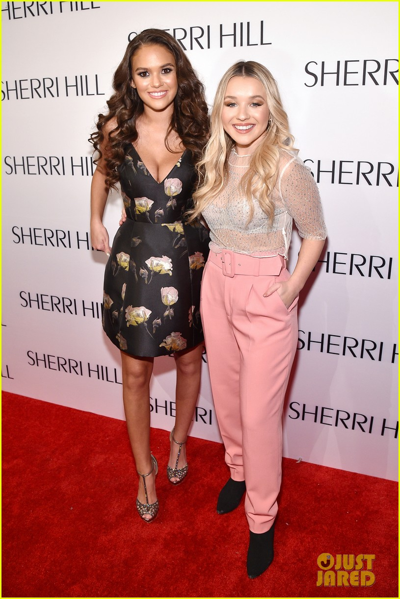 eva gutowski and niki and gabi support sailor brinkley cook at sherri hill fashion show 58