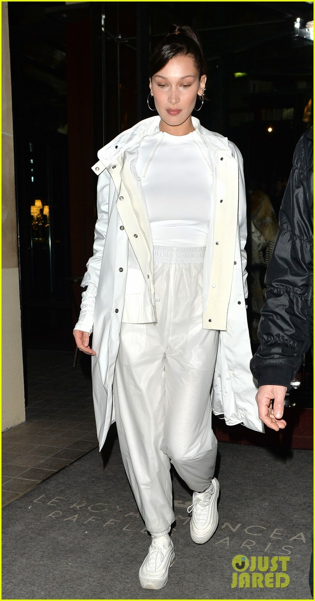 gigi hadid makes a grand exit from her hotel in paris 01
