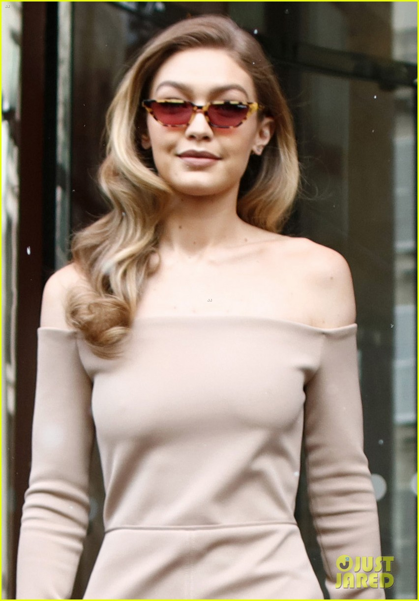 gigi hadid makes a grand exit from her hotel in paris 02