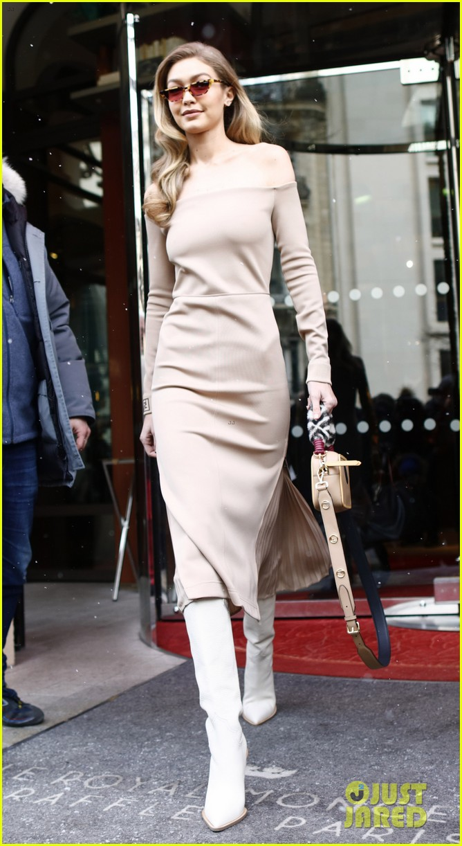 gigi hadid makes a grand exit from her hotel in paris 05