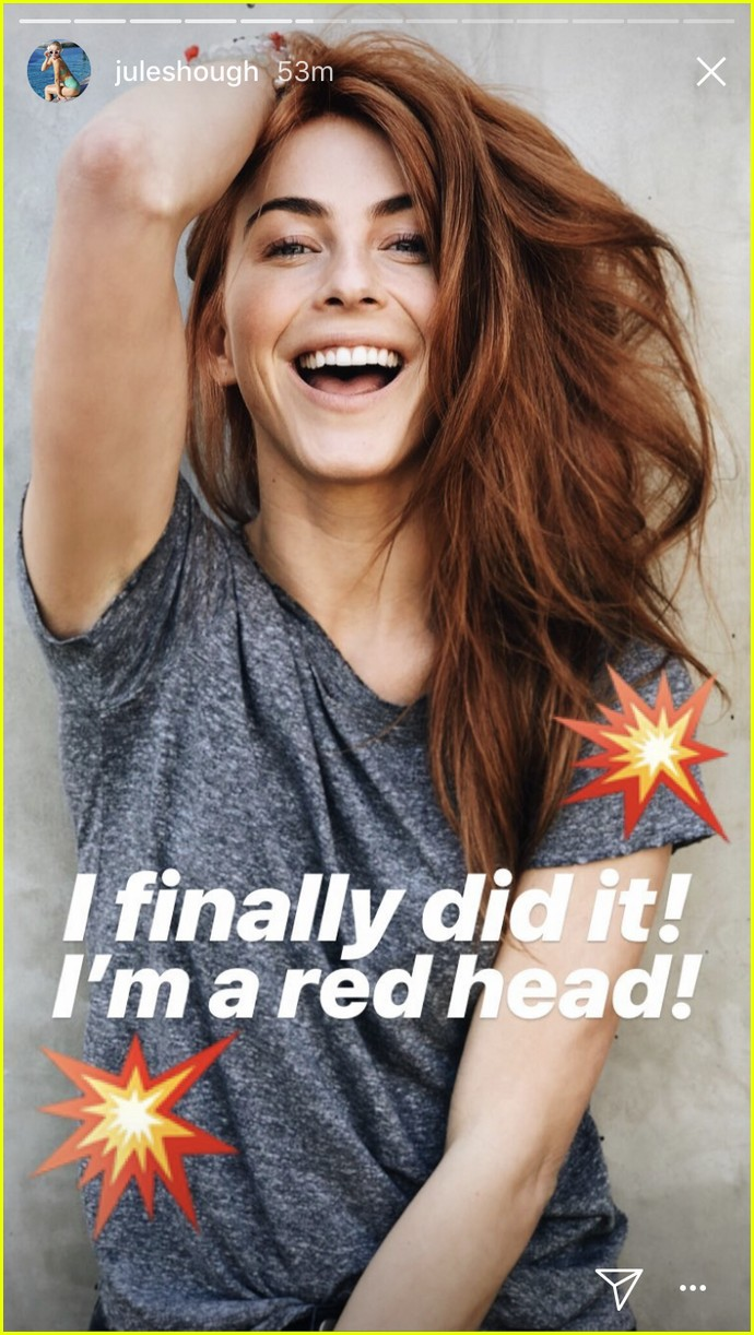 julianne hough is now a redhead i have never felt more