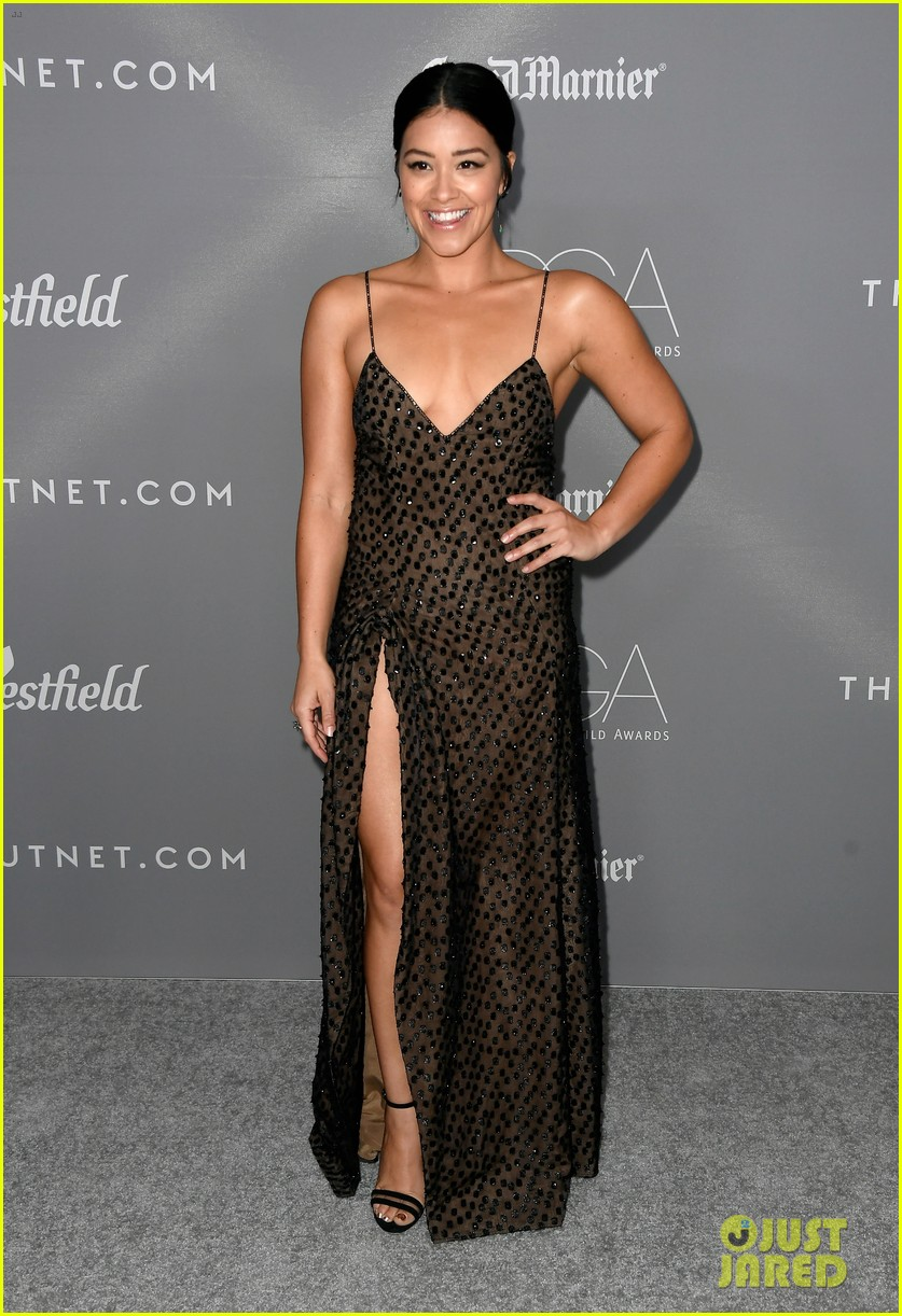 gina rodriguez colton haynes sarah hyland step out in style for costume designer awards 01