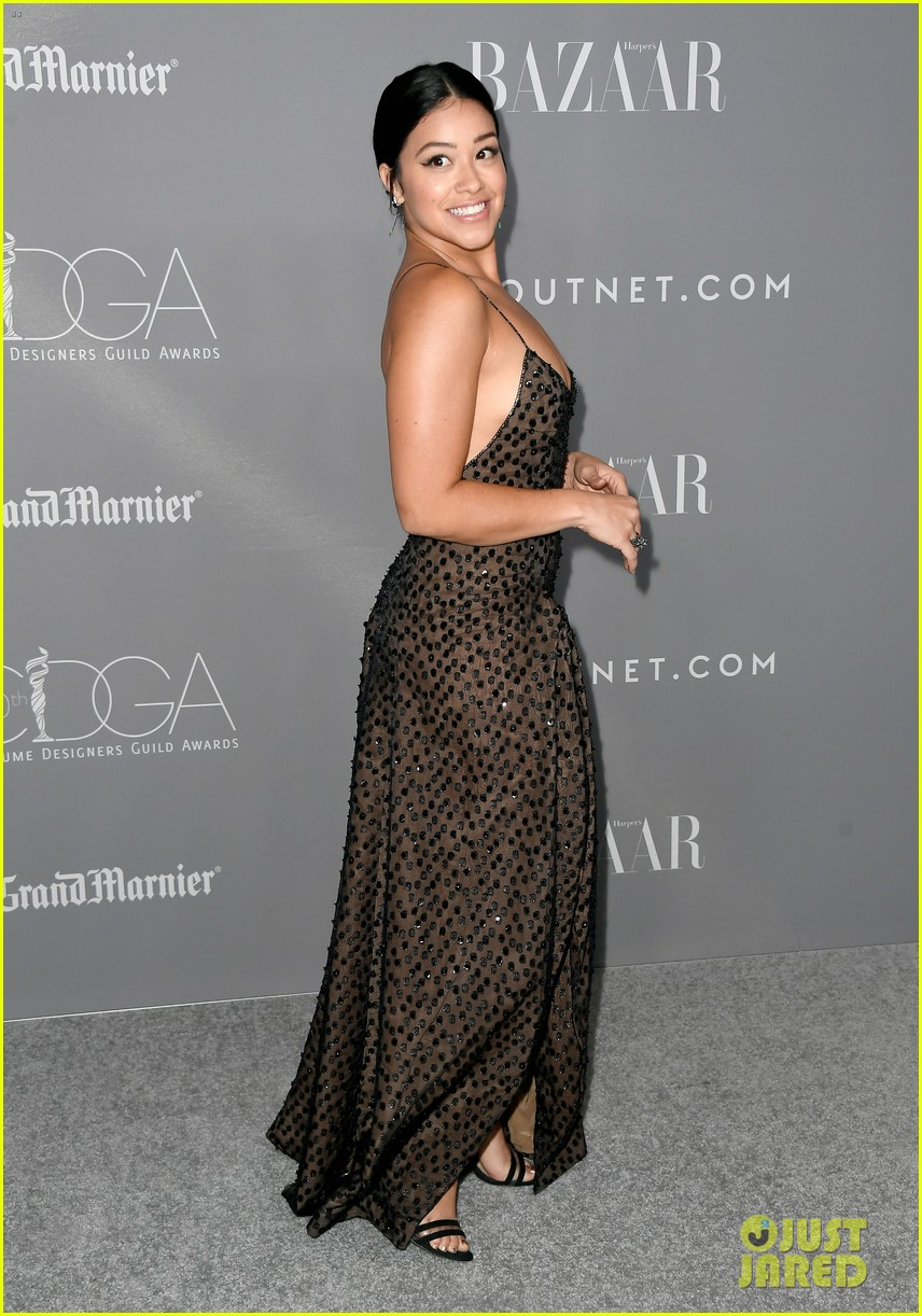gina rodriguez colton haynes sarah hyland step out in style for costume designer awards 25